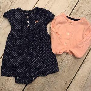 Carters infant dress and cardigan set